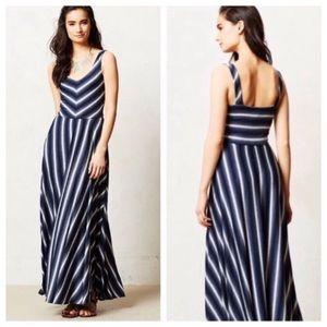 Anthropologie | Puella stripped cotton maxi dress